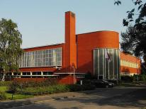 School, Hilversum (Red-Dudok). Dudok designed at least 18 schools in Hilversum. Though seen as a dull buff-brick architect I soon discovered Dudok was not so easy to pigeon-hole.,